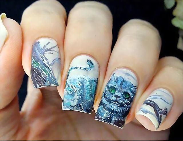 дизайн ногтей с наклейками 2